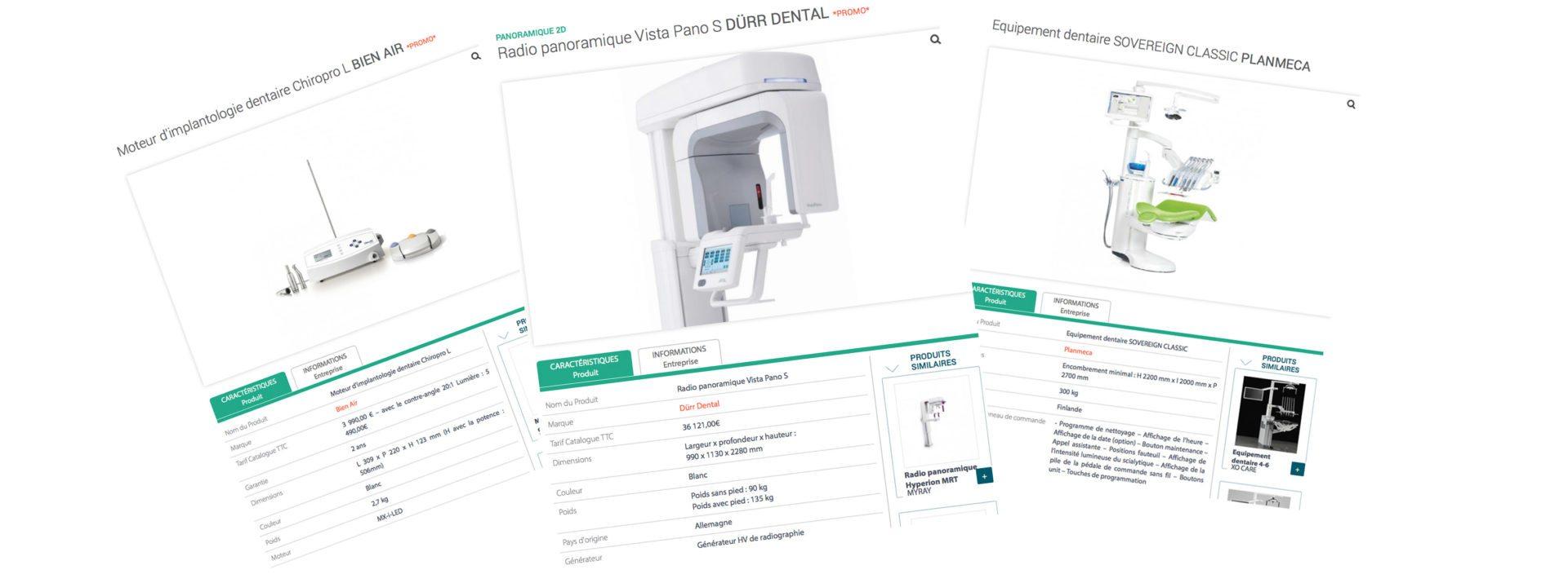 Base de données francophone equipements dentaires