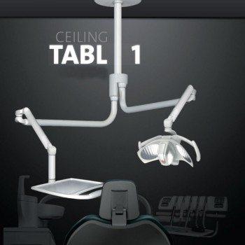 Eclairage scialytique plafond avec tablette Ceiling Tabl