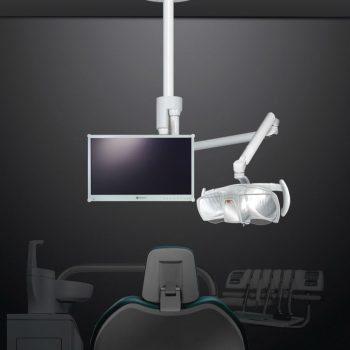 Eclairage scialytique plafond avec bras d'écran Ceiling Visio One