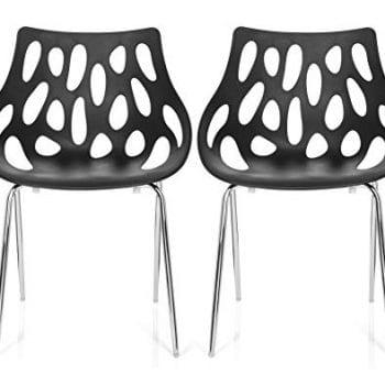 Lot de 2 chaises design pour salle d'attente cabinet dentaire