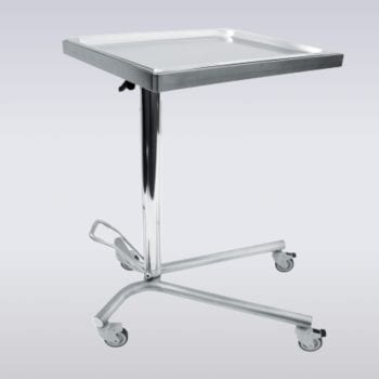 Table Mayo hydraulique avec plateau pivotant